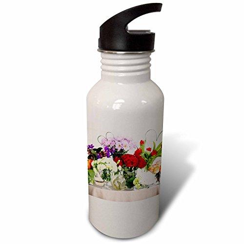 3dRose Danita Delimont - Flowers - USA, Florida, Celebration, Bouquets of Flowers - Flip Straw 21oz Water Bottle (Daisy Usa Bouquet)