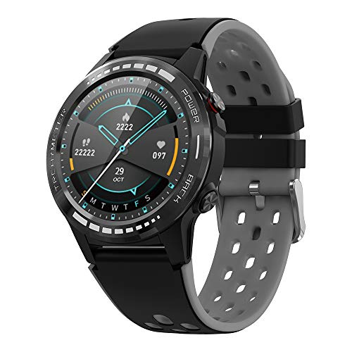 Bluetooth GPS Smart Watch for Men Women, 1.3″ Full Touch Screen Smartwatch IP67 Waterproof Fitness Tracker Watch with Heart Rate/Sleep Monitor Pedometer Stopwatch with Message Notification