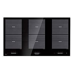 Klarstein Virtuosa Flex 90 Placa de inducción - 6 zonas de cocción , 10800W , Vitrocerámica , Encastrable , ThermoBoost , Flexzone , Temporizador , ...