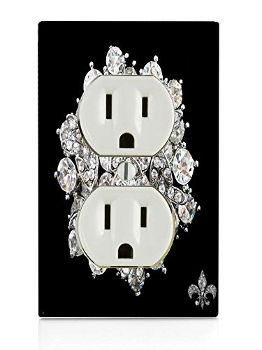 (Trendy Accessories Rhinestone Brooch Pin Crystal Brooch Design Print Image Electrical Outlet Plate Cover)