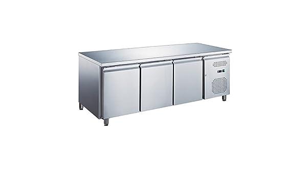 Mesa fría pastelera - 3 puertas - parte superior mesa fría ...