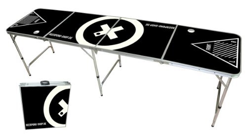 Beer Pong Tisch Set - Audio Table Design - Beer Pong table inkl. 50 Red Solo Cups und 6 Bälle