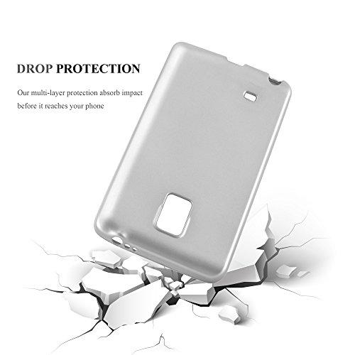 Cadorabo - Cubierta Protectora para >                                                  Samsung Galaxy NOTE EDGE                                                  < de Silicona TPU con Efecto Metálico Mate