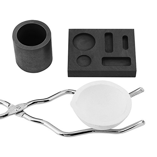 Torch Melting Kit Precious Metal Torch Casting Kit,High Purity Graphite Modern Ceramic Processing Technology,Quartz Crucible + Tong + Bowl + Mould