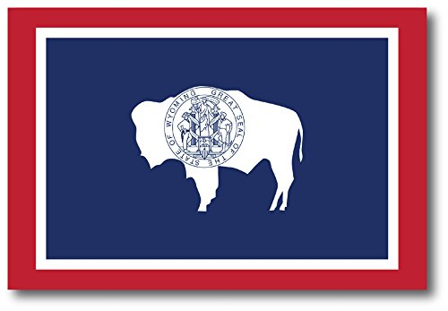 Wyoming Car Magnet US State Flag Refrigerator Locker SUV Heavy Duty Waterproof…