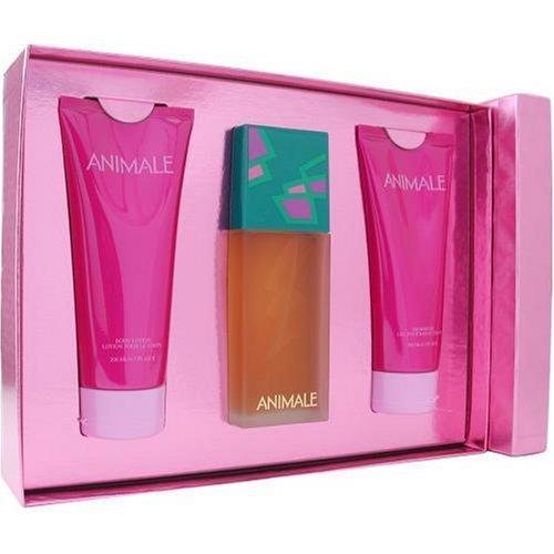 Animale By Animale Parfums For Women. Set-eau De Parfum Spray 3.4 OZ & Body Lotion 6.7 OZ & Body Gel 6.7 OZ Animale Animale Gift Set