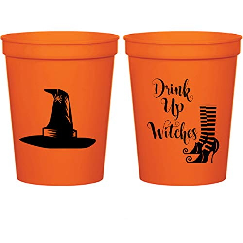 Mandeville Party Company Halloween Orange Plastic Stadium Cups