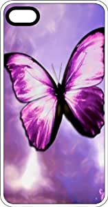 Magical Purple Butterfly Clear Rubber Case for Apple iPhone 5 or iPhone 5s