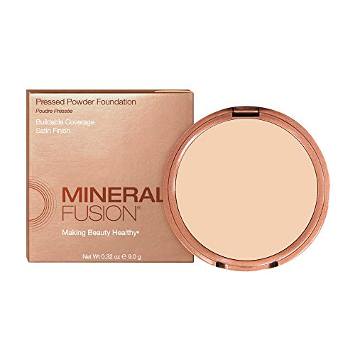 Mineral Fusion Pressed Powder Foundation Light To Full Coverage Cool 1, 0.32 Oz