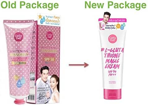 60 ml Cathy Doll Whitening Sunscreen L-Glutathione Magic Cream SPF50, PA+++