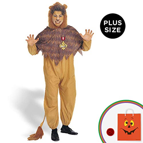 Rubies Costumes Mens The Wizard Of Oz - Cowardly Lion Adult Costume Plus Yellow]()