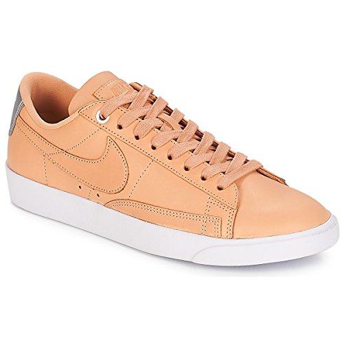 Brown Leather Blazer - Nike Women's Blazer Low SE PRM Bio Beige AA1557-200 (Size: 9.5)