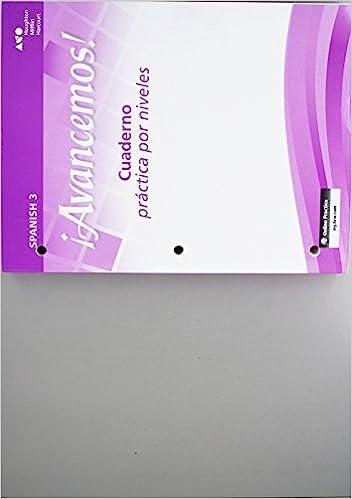 Amazon avancemos cuaderno practica por niveles student avancemos cuaderno practica por niveles student edition level 3 spanish edition spanish student edition fandeluxe Gallery