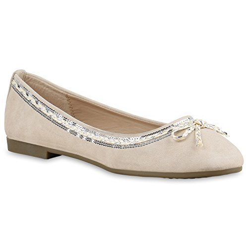 Stiefelparadies Klassische Damen Ballerinas Slippers Flats