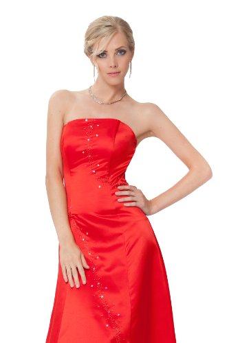 rojo Encuadre entero y de en noche azul cuerpo Rojo medianoche de del pero sin vestido SEXYHER Simple colores elegante tirantes de CwqFF6