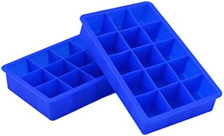 Nobe - 15 Cube Ice Cube Tray Silicone - Makes 15 Perfect 1.25