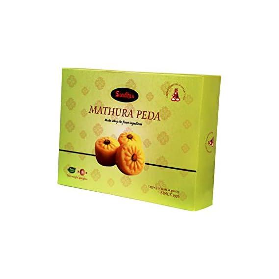 Sindhi Sweets Mathura Peda   Indian Sweets Mithai Gifts Pack 400Gm
