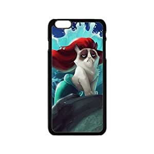 MMZ DIY PHONE CASERed hair cat mermaid Cell Phone Case for Iphone 6