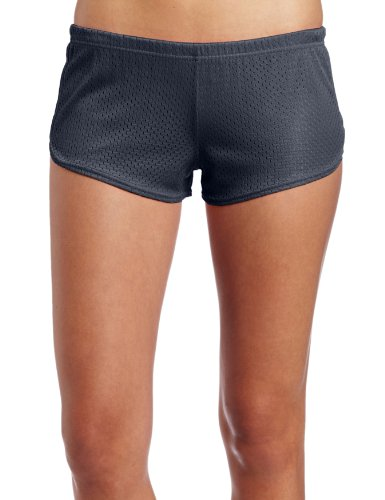 Soffe Women's mesh Teeny Tiny Short, Gun Metal, X-Large -