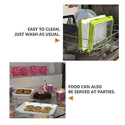 4Pcs Set di contenitori per contenitori per Alimenti per Alimenti sani RoSoy 1//2