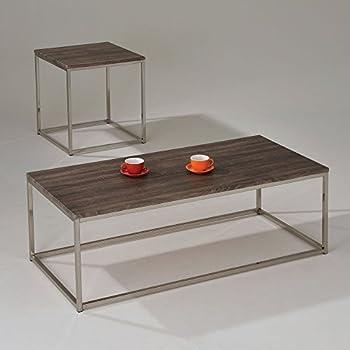 Captivating ACME Furniture 81498 Cecil Coffee Table, Walnut U0026 Brushed Nickel