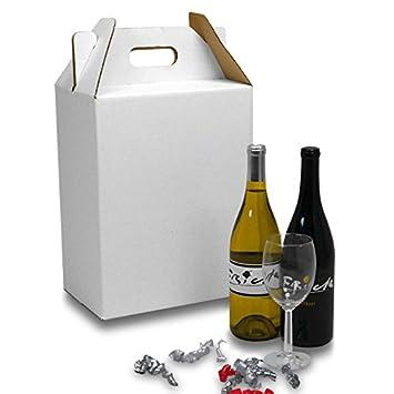Amazon.com: Cartón vino caja de transporte paquete de 6 ...