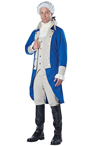 California Costumes Men's George Washington, Blue/Tan, Medium (Founding Fathers Costumes)