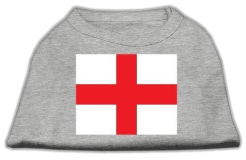 George English Flag (Mirage Pet Products 12-Inch St. George's Cross English Flag Screen Print Shirt for Pets, Medium, Grey)