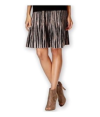 Grace Elements Womens Ikat-Print Flared Skirt