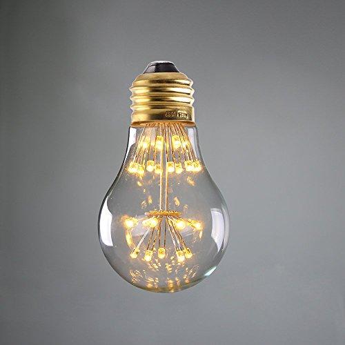Century 3 Light Pendant - Century Light - 3W Edison Style Vintage LED Decorative Light Bulb, 2200K Warm White, E26 Medium Base Lamp for Holiday Christmas Indoor Party, 30W Equivalent, Dimmable, 4Packs