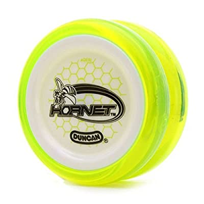 Hornet Duncan Clear Yellow Green with White Cap Looping Yo Yo: Toys & Games