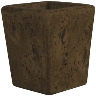 Syndicate Sales 5 1 2 Tapered Square Vase, Weathered Brown