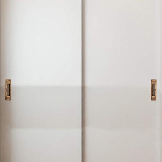 Empuñadura rectangular negra empotrada Manija de la puerta de aleación de zinc oculta Manijas empotradas de la puerta corrediza Manija del cajón del gabinete Tiradores de los dedos Manija oculta 151mm: Amazon.es: