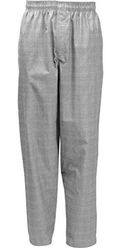 Fame Fabrics 82702 C17 Designer Chef Pants, Glen Plaid, XL