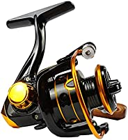 dukclyn Spinning Reel for Fishing Freshwater, Ultra Smooth Powerful Light Weight 3+1 Ball Bearings 5.2:1 Gear