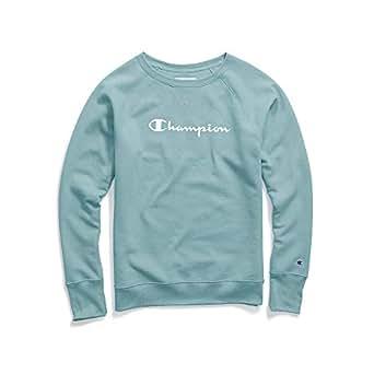2227a255b3ea56 Amazon.com: Champion Women's Fleece Boyfriend Crew Sweatshirt: Clothing