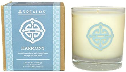Scented 8.5 ounces 3Realms Energy Symbol Soy-Blend Candle