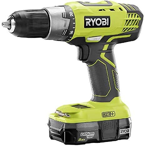 RYOBI P1986 18V ONE Drill and Reciprocating Saw Kit with 2.0 Ah Battery and Charger