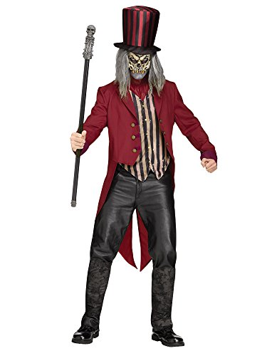 Ringmaster Mens Costume (Fun World Men's Freak Show Ringmaster, Multi, STD. Up to 6' / 200)