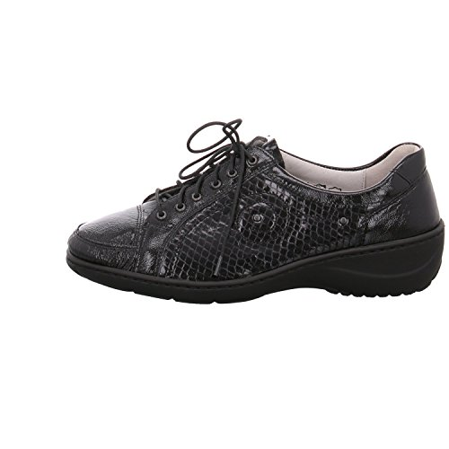 Femme Noir Lacets à Chaussures Waldläufer q1pftW