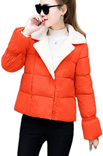 Longues Rembourrage Orange Chic Jacket Quilting Stepp Doudoune Double Manches Boutonnage Fashion Mode Élégant Chaud Automne Cheminée Femme Unicolore Manteau Hiver Désinvolte Blouson Confortables wBqUgBI4