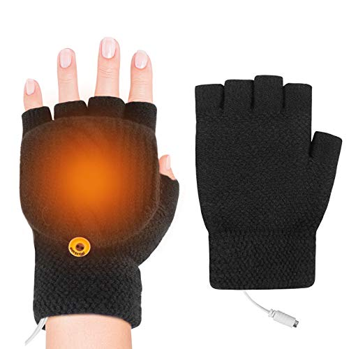 iFCOW Verwarmde handschoenen, USB verwarmde handschoenen mannen vrouwen winter elektrische verwarming warme sport…