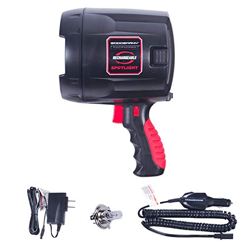 GOODSMANN Tacticpro Bright Portable Cordless Rechargeable Halogen Flood/Spotlight Offroad Automotive/Garage /Emergency/Boating/Fishing/Hunting/Camping/Hiking/Patrolling 9924-0011-08 by GOODSMANN