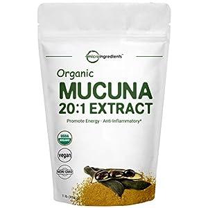 Gut Health Shop 41ksVLQborL._SS300_ Maximum Strength Organic Mucuna Pruriens Extract 20:1 Powder (Contains Natural L Dopa),1 Pound, Pure Mucuna Supplement…
