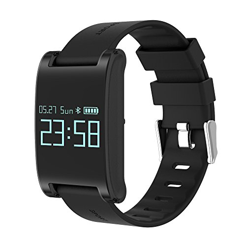 Smart Bracelet DM68 Touch Screen Smartband IP67 Waterproof Sleep Heart Rate Monitor Pedometer Sports Wristband For iOS Android (Black)