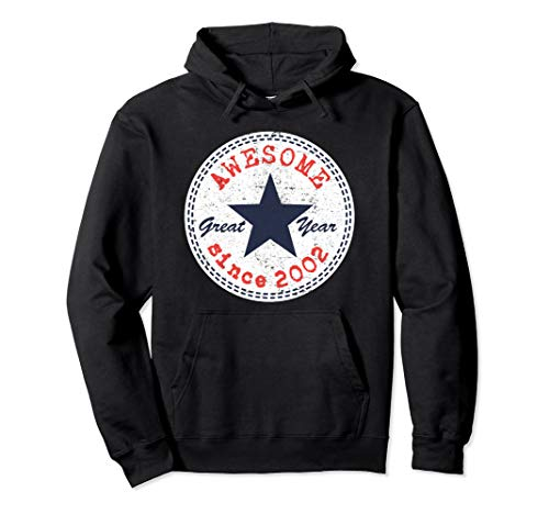 17th Birthday Vintage Awesome Since 2002 Hoodie Boys Girls