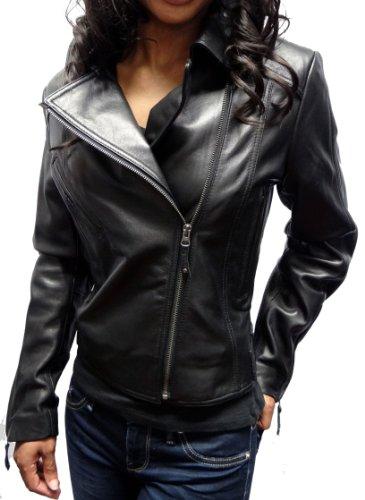 United Face Motorcycle Leather Jacket-Black-2XL