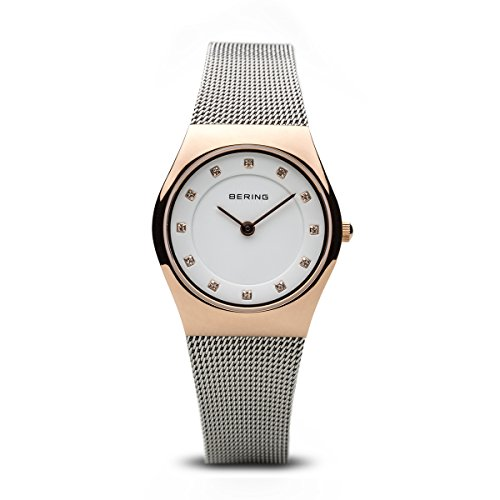 BERING Time 11927-064 Womens Classic Collection Watch with Mesh Band and Scratch Resistant Sapphire Crystal. Designed in Denmark. from BERING