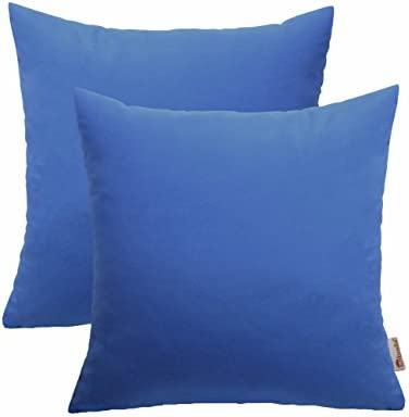 RSH D cor Set of 2 Indoor Outdoor Decorative Throw Pillows Sunbrella Canvas Capri- 22 x 22