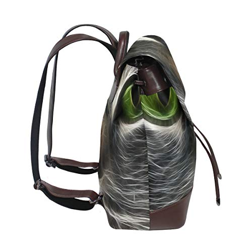 Cat fraktal djur ögon ryggsäck handväska mode PU-läder ryggsäck ledig ryggsäck för kvinnor